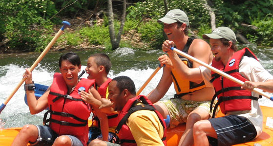 guided raft tour
