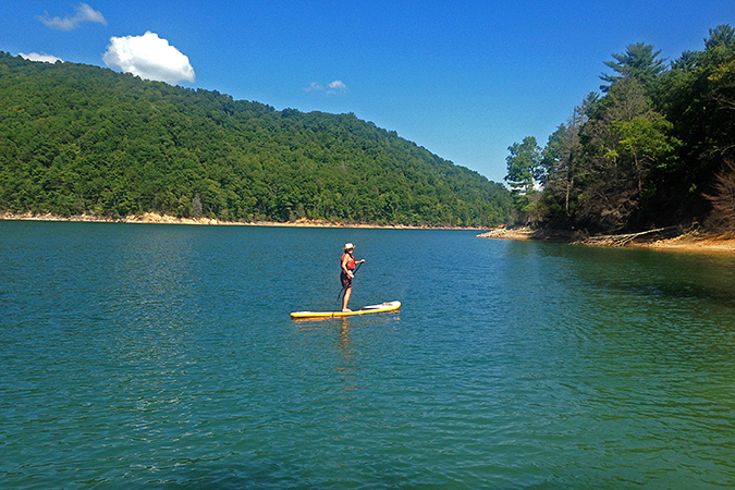 Stand Up Paddling On The Water